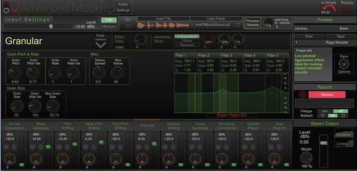 granular sythesis Granulab is a granular resampler with some fun control options all changes are gradual over time, so it's suitable both for long drones and for trashing a drum loop all changes are gradual over time, so it's suitable both for long drones and for trashing a drum loop.