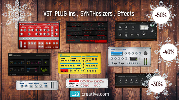 123creative announces christmas sale on vst plug ins synthesizers and guitar effects the. Black Bedroom Furniture Sets. Home Design Ideas